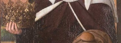 Santa Isabel de Hungría, San Francisco de Asís y San Bernardino de Siena. San Pedro