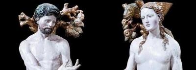 Esculturas de Adán y Eva