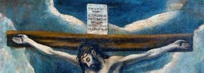 Cristo Crucificado, con la Virgen, San Juan y un donante